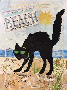 Black Cat at the Beach Fabric Kit
