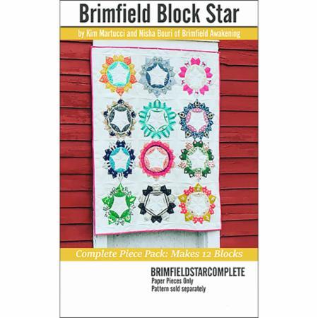 Brimfield Block Star Paper Pieces - Quilting by the Bay