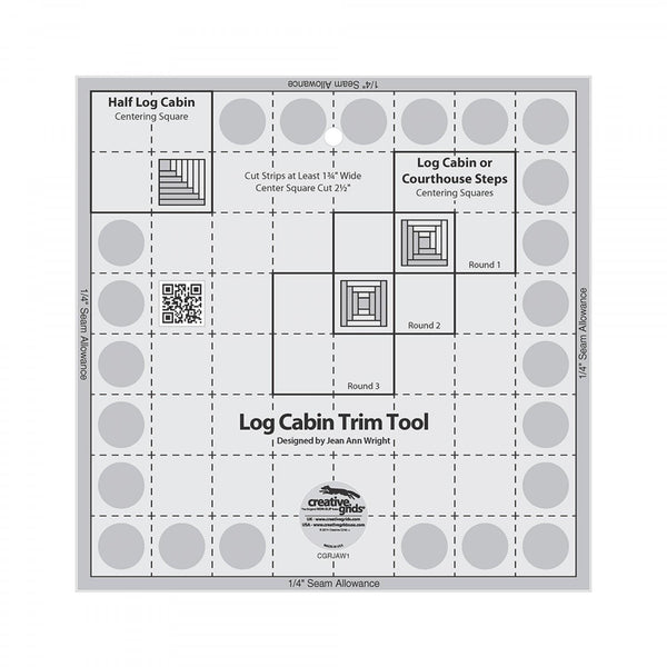 CGR Log Cabin Trim Tool 8 x 8 CGRJAW1 - Quilting by the Bay