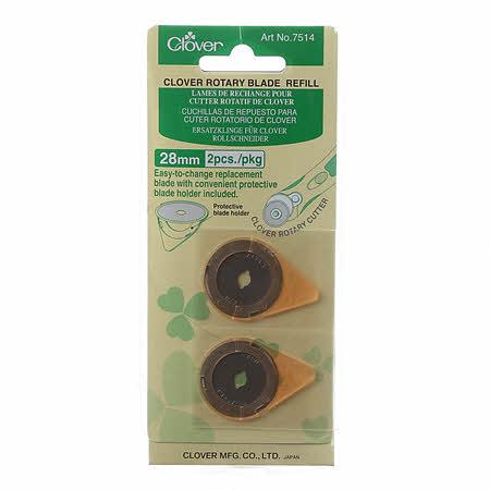 Clover 28mm Refill Blades 2 pack - Quilting by the Bay