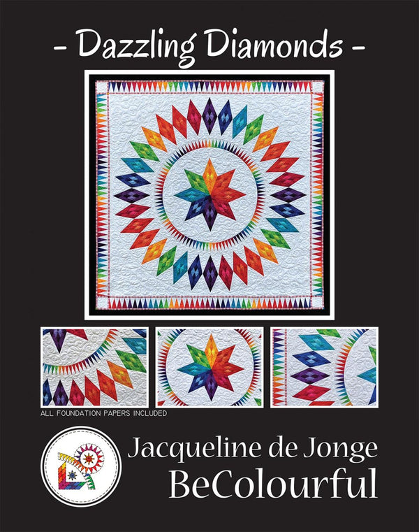 Be Colourful Dazzling Diamonds Pattern  by Jacqueline de Jonge - Quilting by the Bay