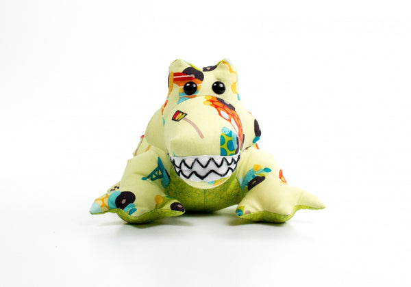 Funky Friends Factory Crocodile Steve Pattern - Quilting by the Bay