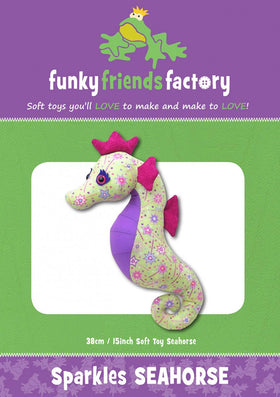Funky Friends Factory Sparkles Seahorse Pattern