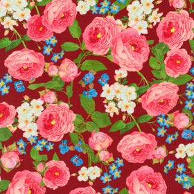 Farmhouse Rose Red Floral AWHD-18602-3