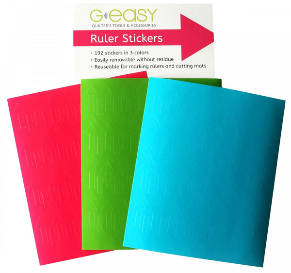 GEasy Ruler Stickers - Quilting by the Bay