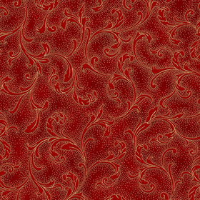Holiday Decadence Scarlet/Gold Vine Scroll w/Metallic S7706-78G