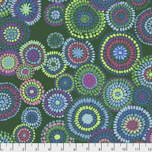 Kaffe Fassett Collective Green Mosaic Circles PWGP176.GREEN - Quilting by the Bay