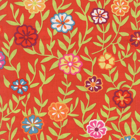 Kaffe Fassett Collective Red Busy Lizzy PWGP175.RED