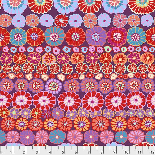 Kaffe Fassett Red Row Flowers PWGP169.REDXX - Quilting by the Bay