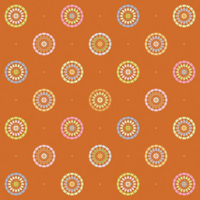 Nightingale Orange Sunrise Floral 1828-22