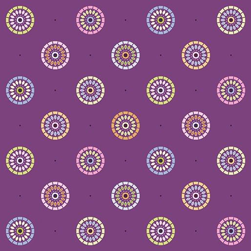 Nightingale Plum Sunrise Floral 1828-36 - Quilting by the Bay