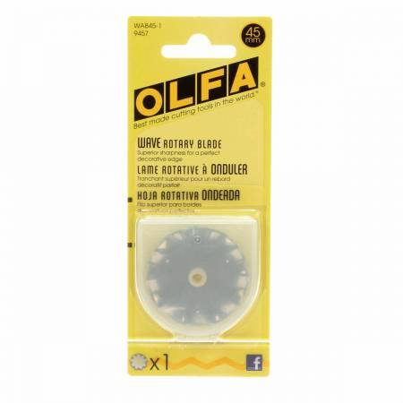 Olfa 45mm Rotary Cutter Blade Wavy - Quilting by the Bay
