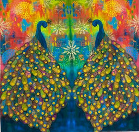 Pizzazz Multi Peacock Digital Panel PWSP019.MULTI