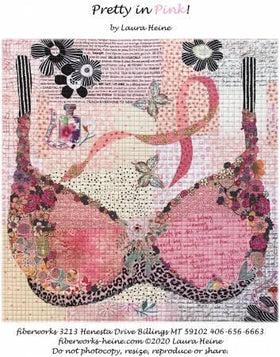 Pretty in Pink Collage Pattern by Laura Heine