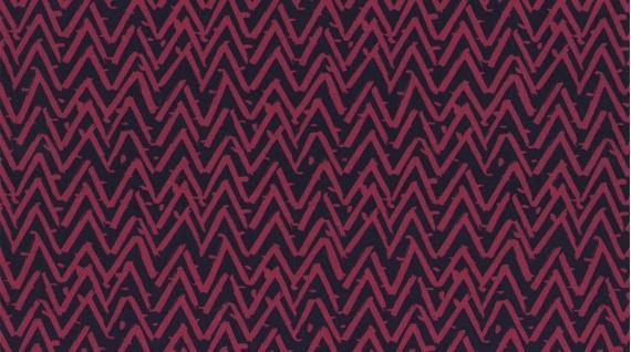Oh Happy Day Magenta Zig Zag 252 Magenta - Quilting by the Bay