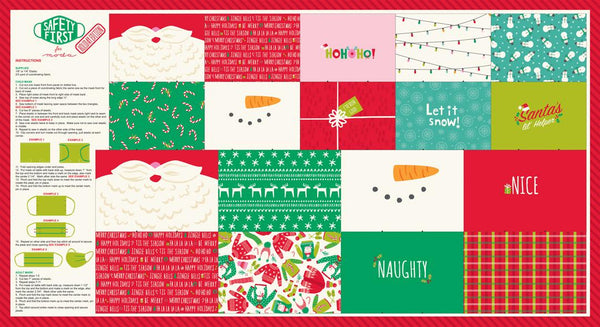 Safety First Holiday Panel by Stacy Iest Hsu for Moda Fabrics 20771 - Quilting by the Bay