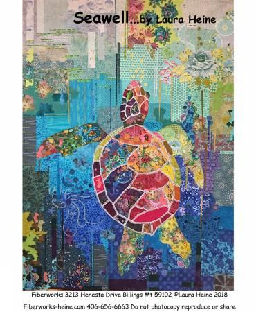 Seawell Sea Turtle Collage Pattern by Laura Heine - Quilting by the Bay