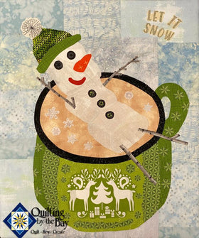 Teeny Tiny Snowman Fabric Kit -- Green Colorway