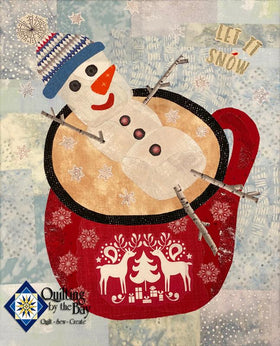 Teeny Tiny Snowman Fabric Kit -- Red Colorway