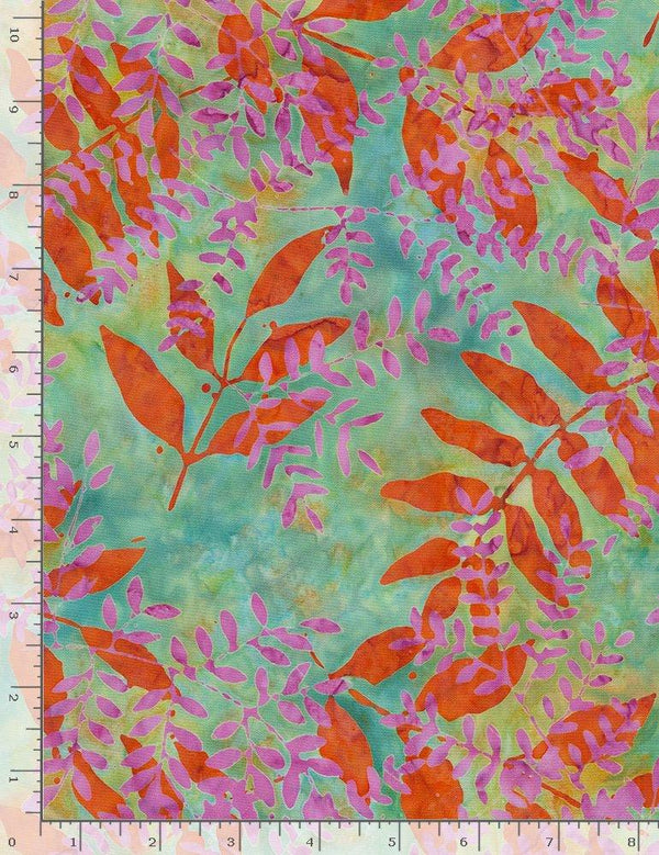 Tonga Persimmon Nature Tossed Branches TONGA-B7680-NATURE - Quilting by the Bay