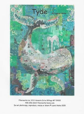 Tyde ... The Whale Collage Pattern by Laura Heine