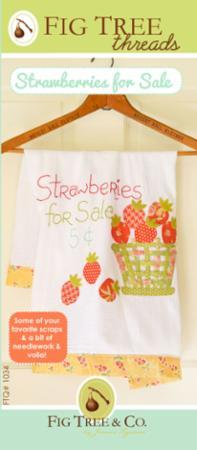 Strawberries For Sale Tea Towel Pattern