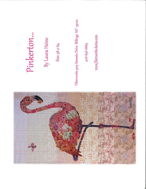 Pinkerton Flamingo Collage Pattern by Laura Heine - Quilting by the Bay