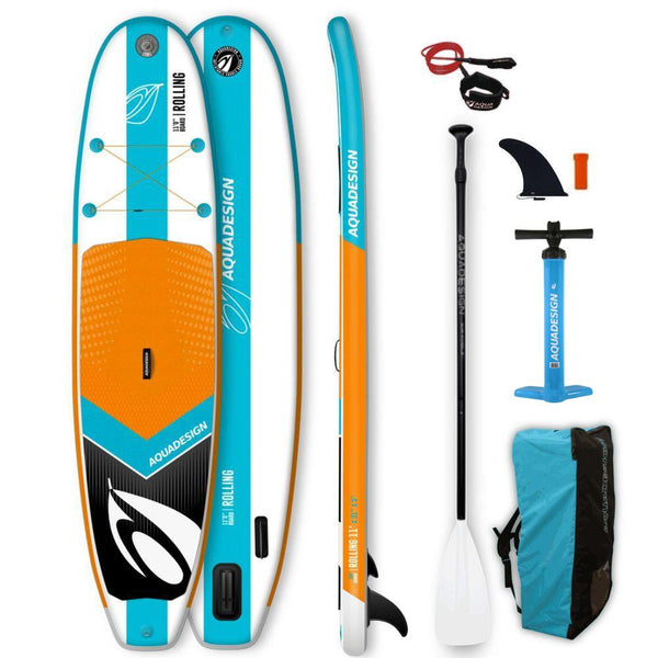 Aquadesign ROLLING 11.0 Stand Up Paddle Gonflable Wave-Stand Up Paddle Gonflable-AQUADESIGN