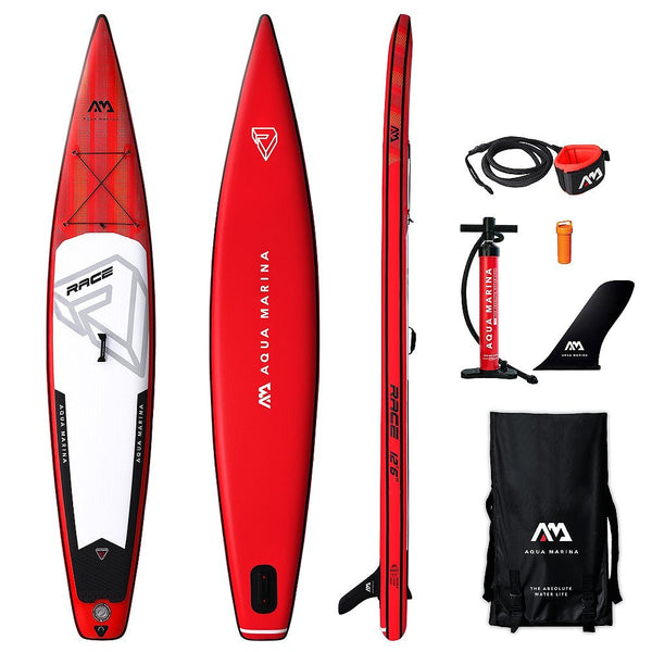 Paddle Aqua Marina RACE 12.6 Sup Gonflable - 2019-Stand Up Paddle Gonflable-All SUP Boards | All Stand-Up Paddle Boards