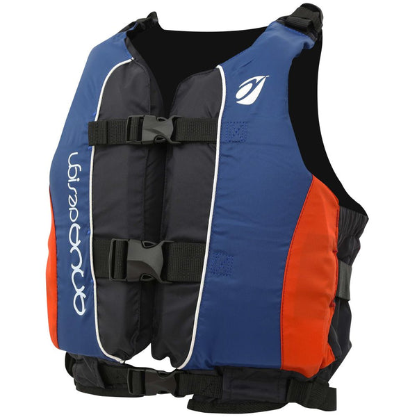 Gilet Aquadesign TWIST CLUB Bleu Rouge Mousse PE Canoe-Kayak-Voile-Sup-Gilet-AQUADESIGN