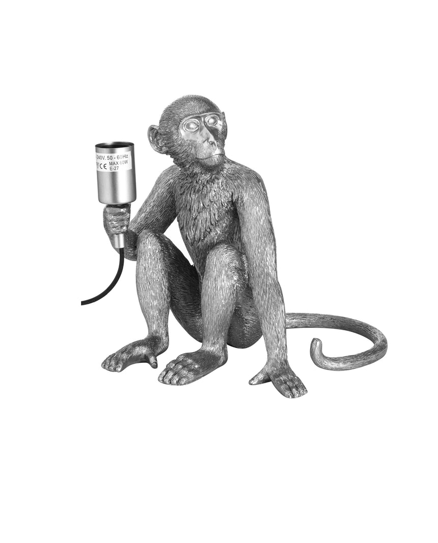 Ringo Silver Monkey Table Lamp