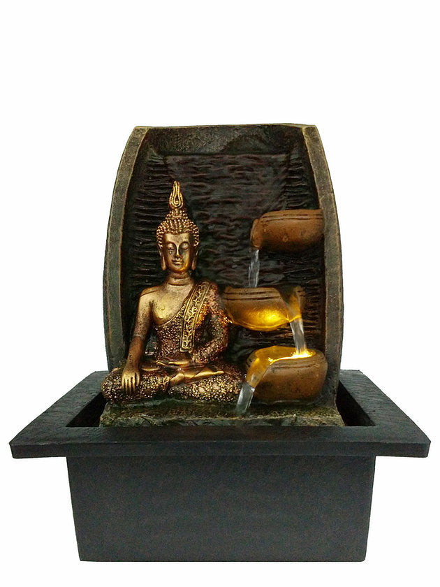 Golden Buddha Water Fountain