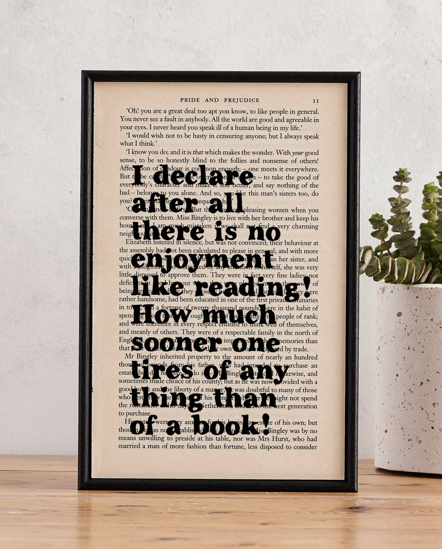 Book Page Print: I Declare (Pride And Prejudice) by Driftroom
