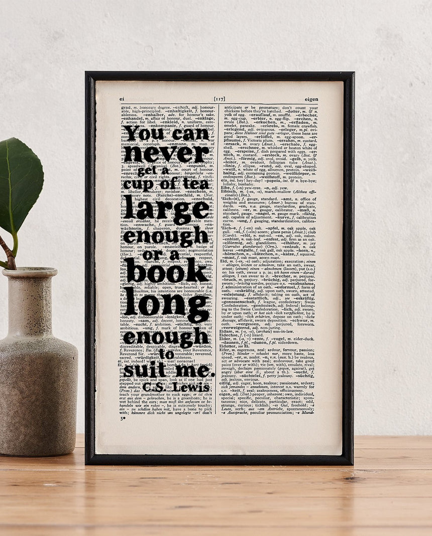 Book Page Print: You Can Never (CS Lewis) by Driftroom