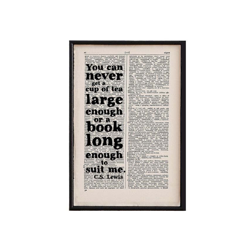 Book Page Print: You Can Never (CS Lewis)