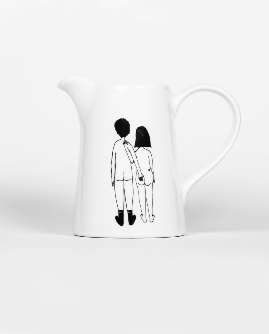 Naked Back Couple Jug