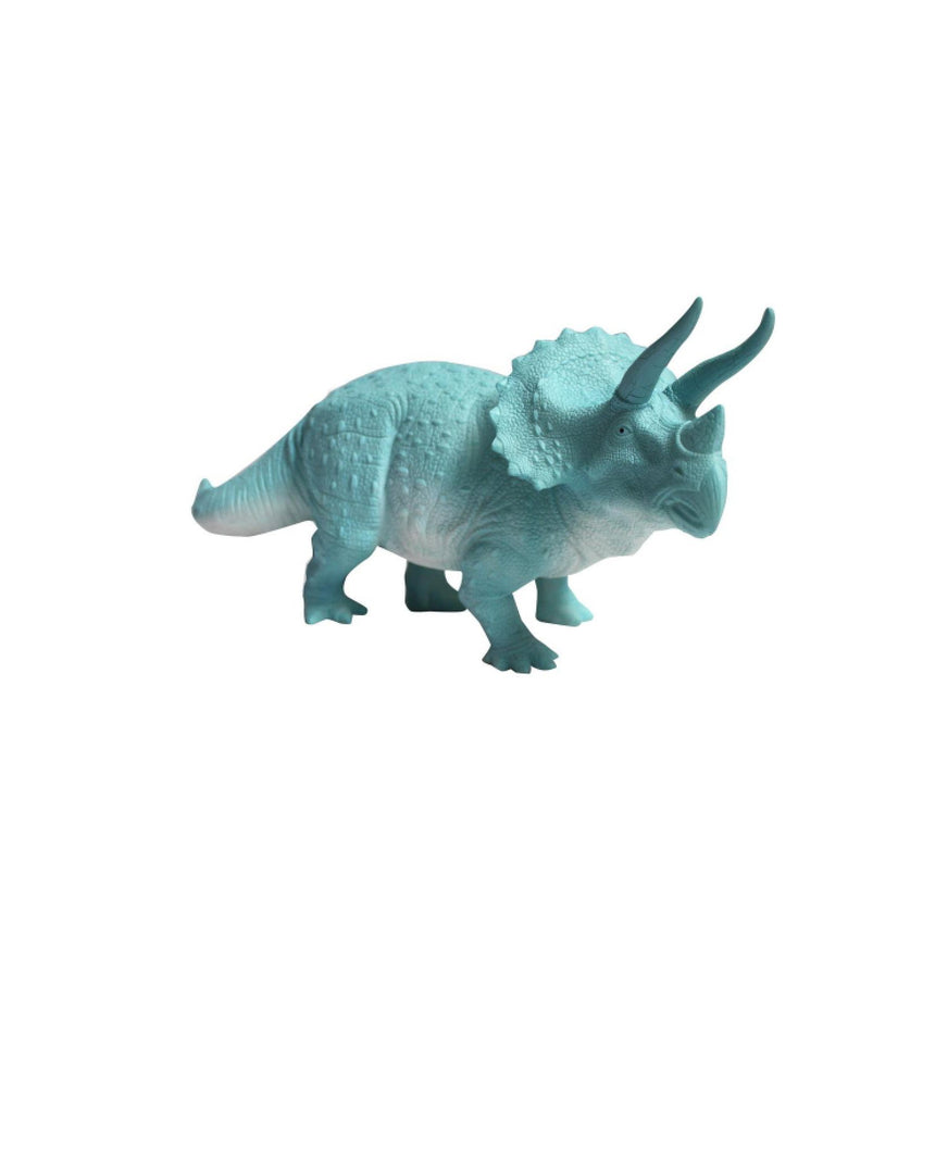 Large Turquoise Triceratops Light