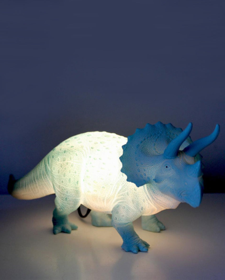 Large Turquoise Triceratops Light by Driftroom