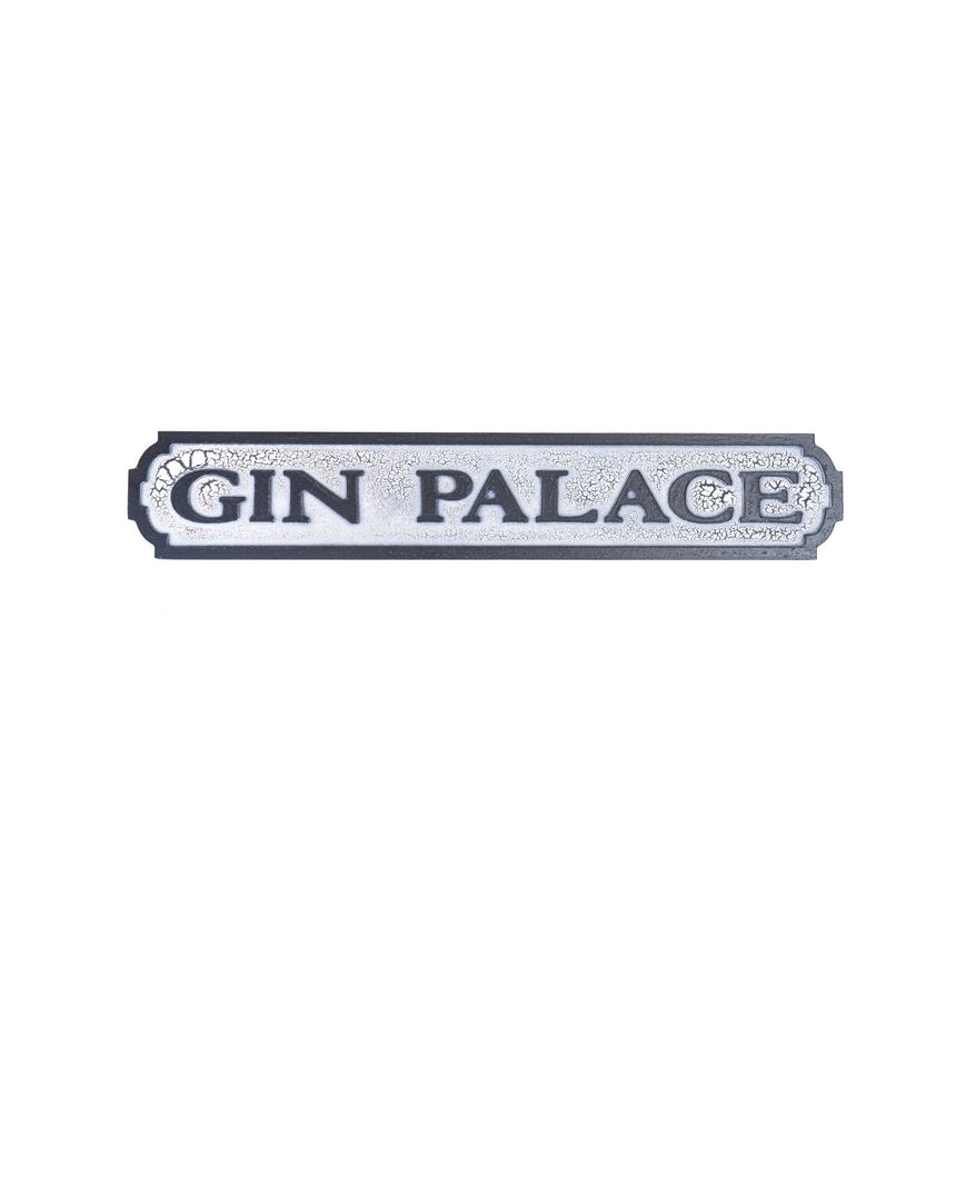 Vintage Street Sign Gin Palace by Driftroom