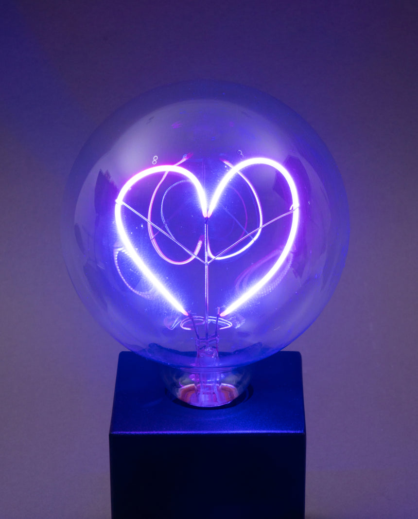 Love Heart LED Message In A Bulb (Table)