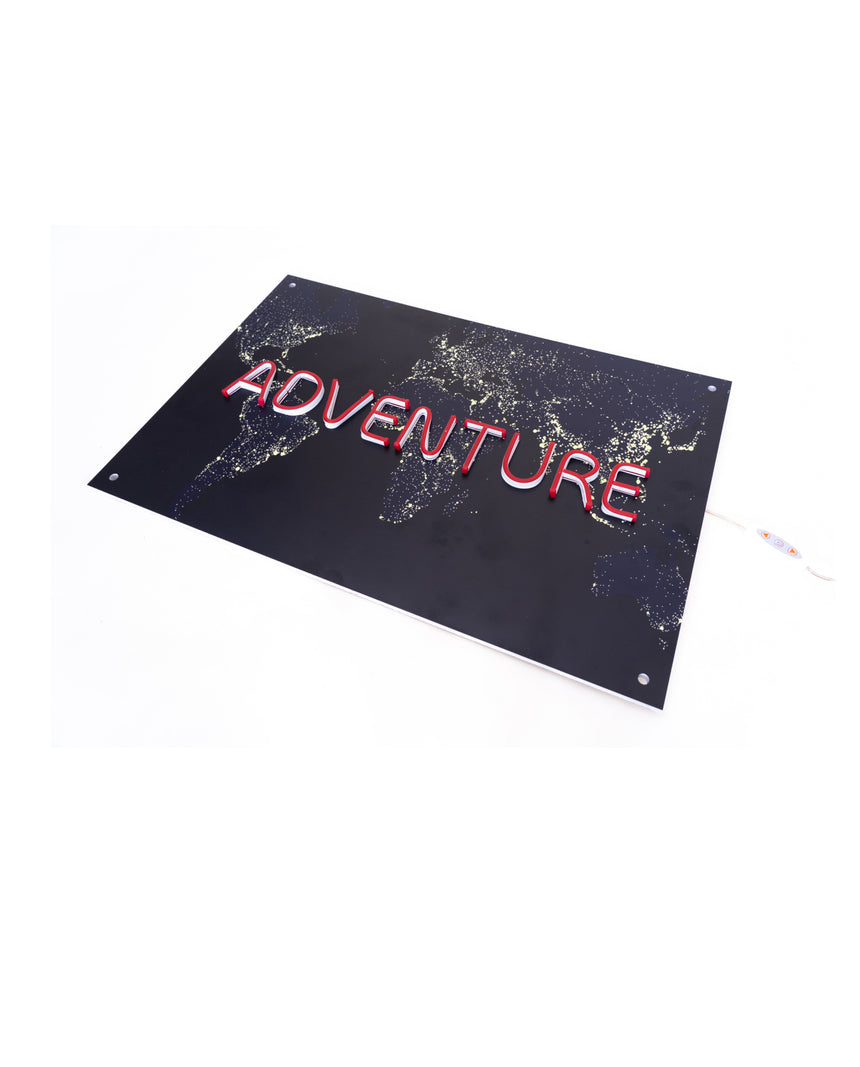 Adventure Neon Wall Art