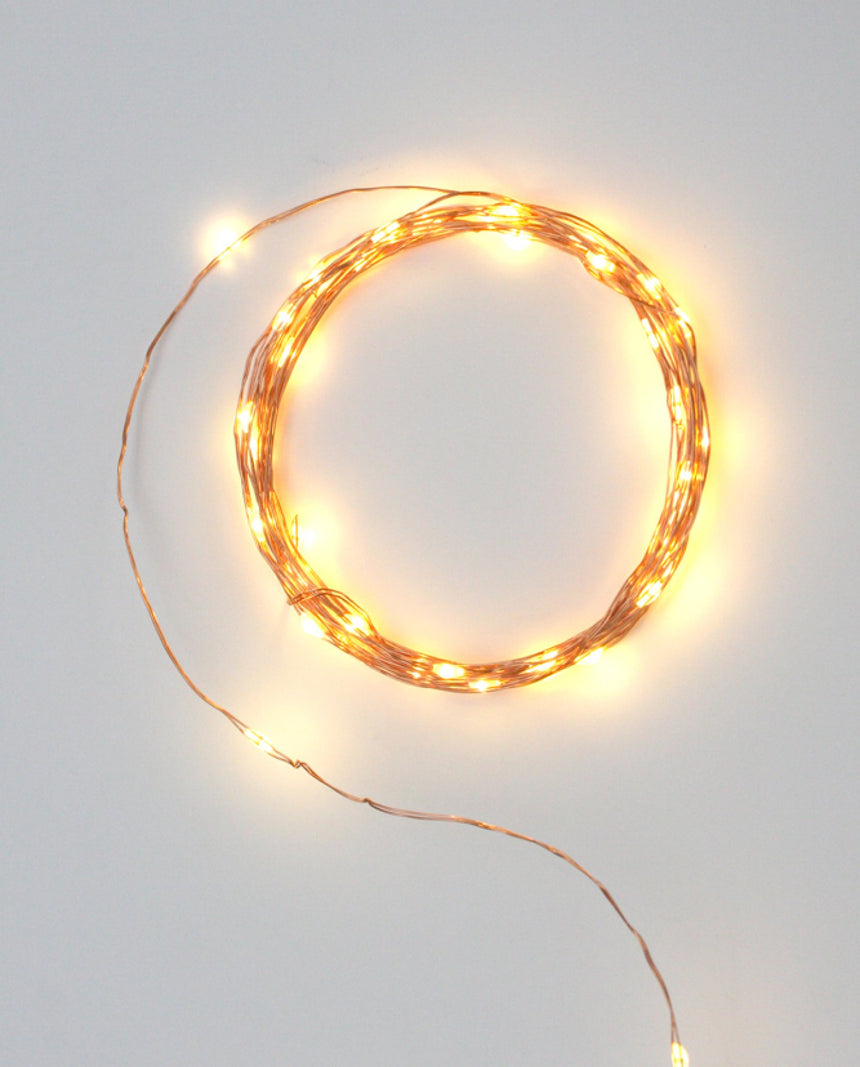 LED Copper String Fairy Lights by Driftroom