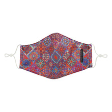 Load image into Gallery viewer, peranakan tile inspired fabric mask front view