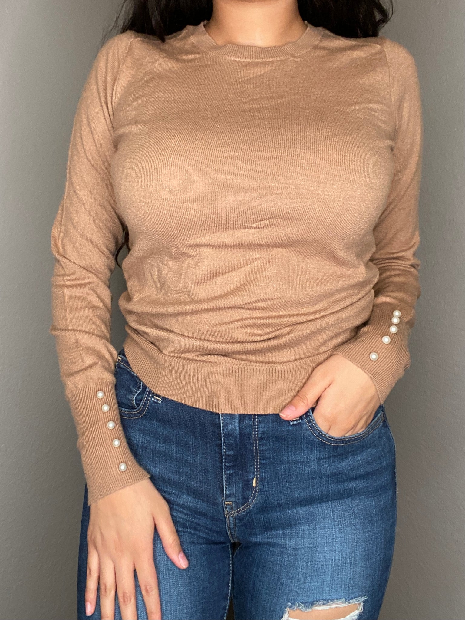 Caramel Sweater Top