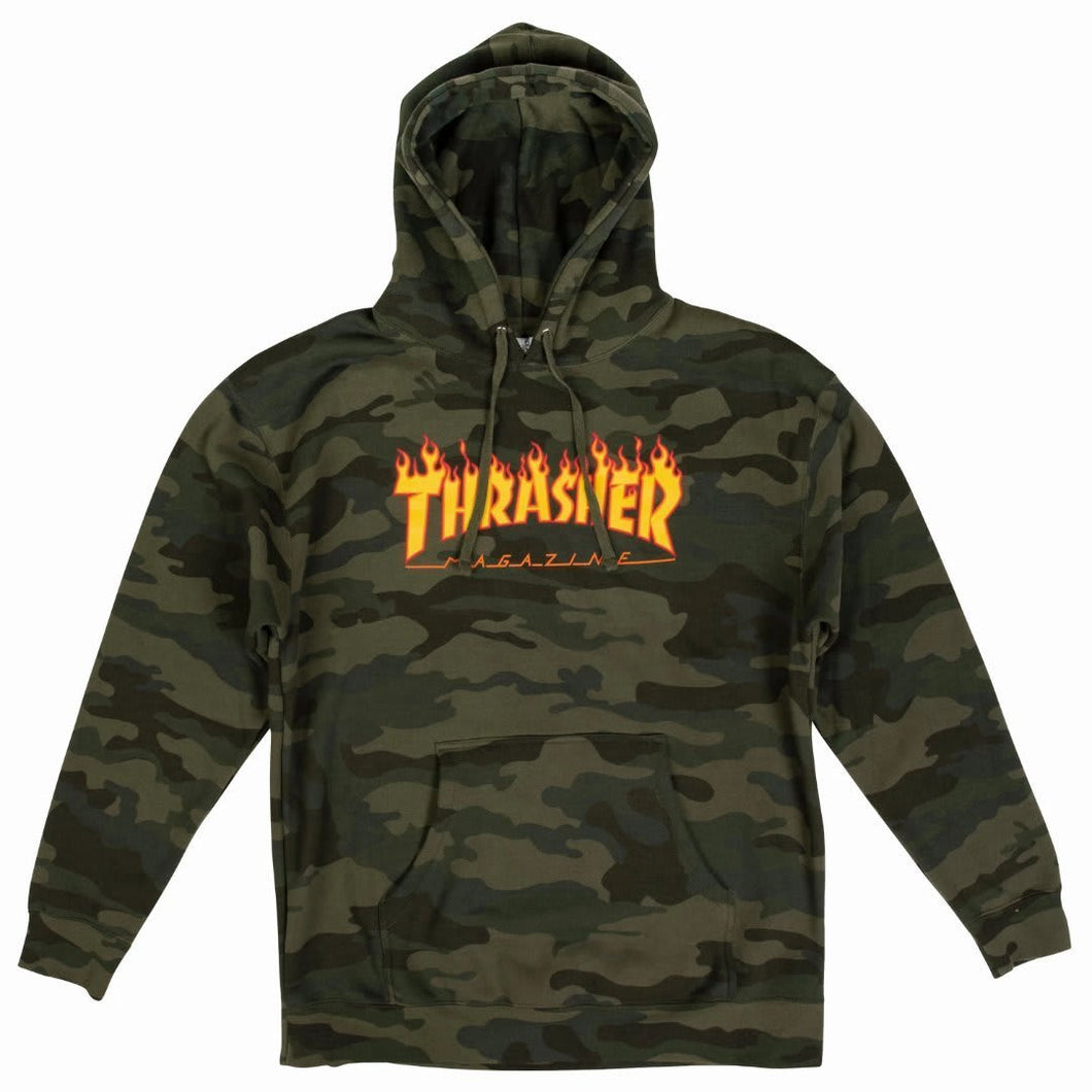 Thrasher Flame Logo Hood (Black)
