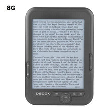 Load image into Gallery viewer, Portable e-book reader E-Ink 6 inch E-reader 800x600 Resolution Display 300DPI Blue Cover 16GB 8GB 4GB eBook