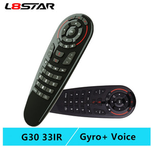 G30S Voice Air Mouse universal Remote control 33 keys IR learning Gyro Sensing Wireless Smart remote for android tv box X96 mini