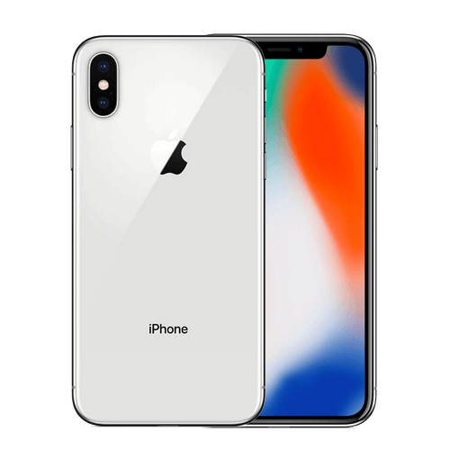 Apple iPhone X 256GB Plata Bueno  - Orange