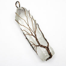 Load image into Gallery viewer, Chakra Tree of Life Quartz Crystal Amulet