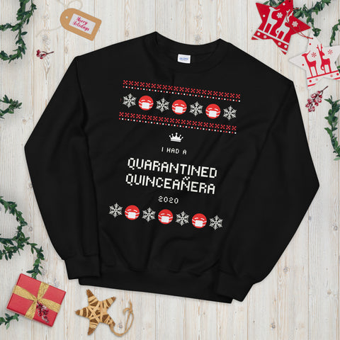 Image of Ugly Christmas Sweater - Quarantined Quinceañera Sweatshirt